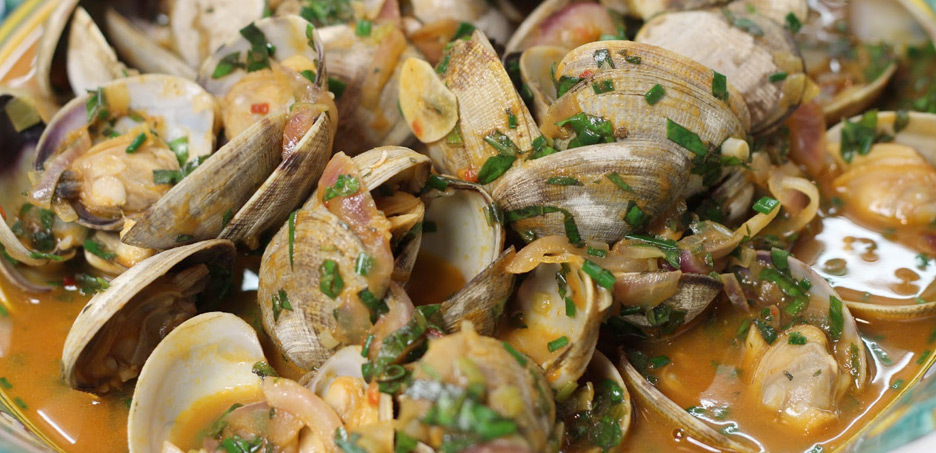 Fisherman' style clams