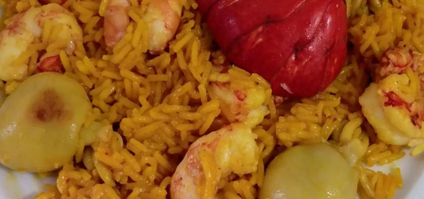 Deluxe lobster rice